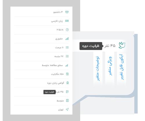 3: امکان افزودن 4 مدرس به دوره و نمایش دوره های مدرس در سایدبار و همچنین امکان ایجاد پروفایل اختصاصی برای هر مدرس با قابلیت نمایش دوره های مدرس در پروفایل
